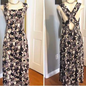 VINTAGE CROSSBACK FLARED DRESS